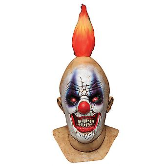 Squancho The Clown Horror Joker Sinister Creepy Mens Costume Overhead Latex Mask