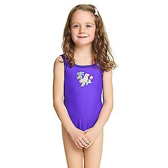 Zoggs 女の子ジャングル楽しい Scoopback 水着紫 6-16 年、旧