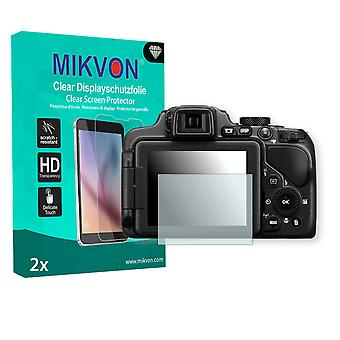 Nikon COOLPIX P600 Screen Protector - Mikvon Clear (Retail Package with accessories)