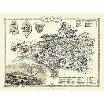 Old Map of Dorset (shire) 1836 by Thomas Moule 1000 Piece Jigsaw Puzzle (jhg) (1)