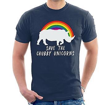 Save The Chubby Unicorns Rainbow Men's T-Shirt