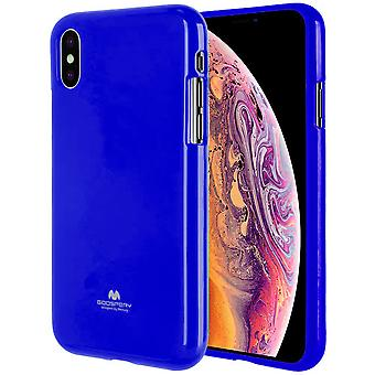 GOOSPERY Pearl Jelly Case iPhone Xs MAX TPU Skin dark blue