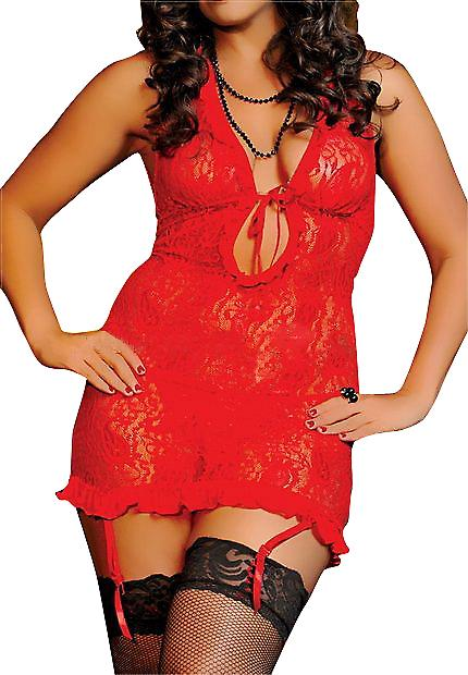 Waooh - Sexy Lingerie - Transparent Babydoll Lace