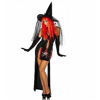 Waooh 69 - statt Sexy frechen Hexe Kostüm schwarz und rot