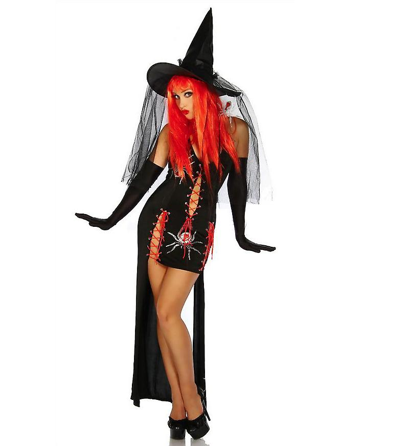 Waooh 69 - Dress Sexy Costume Sexy Witch In Black And Red