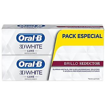 Oral B Seductor Dentífrico 3D White Luxe Brillo 75 ml 2 uds