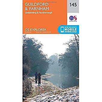 OS Explorer Map (145) Guildford and Farnham