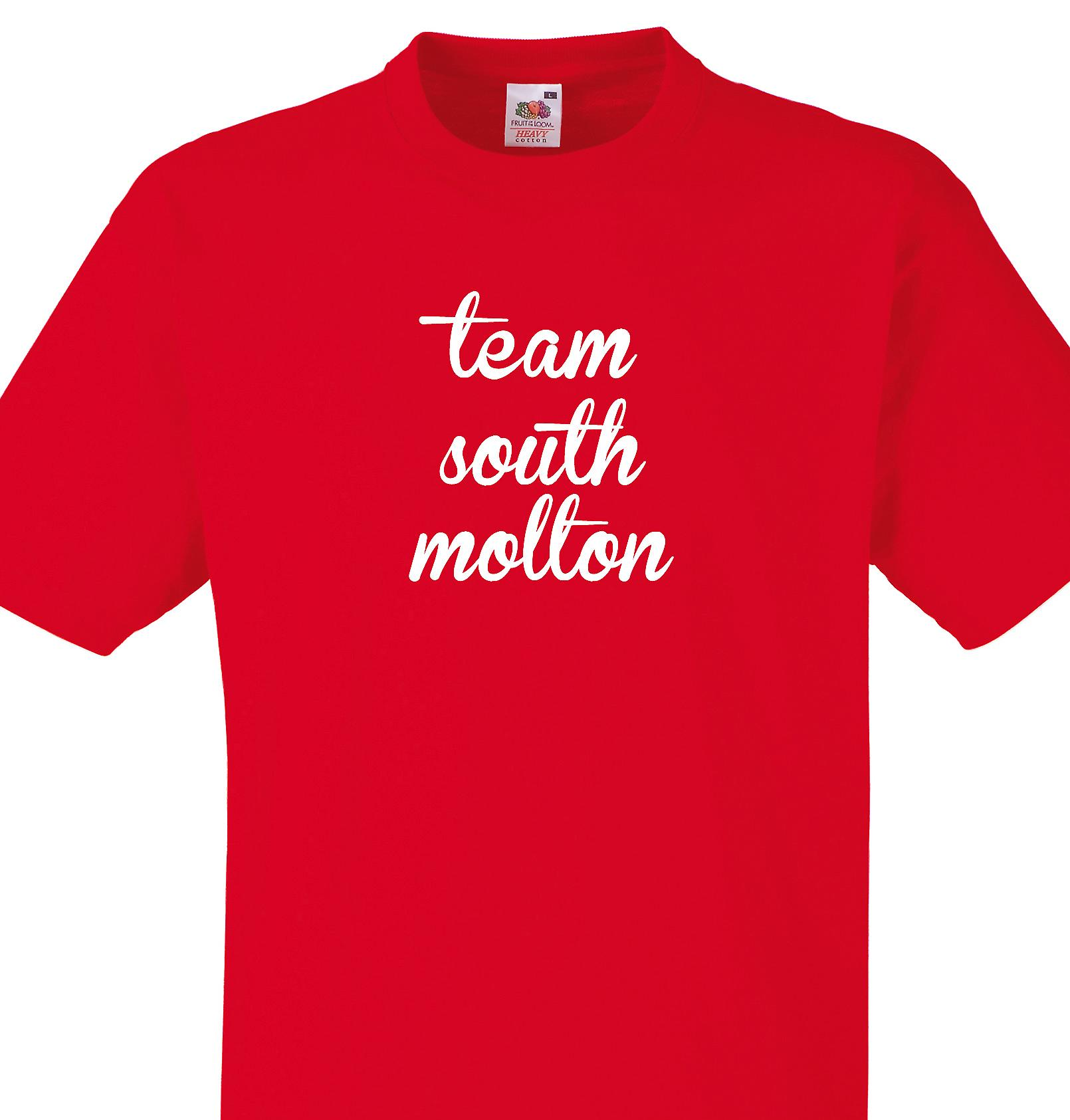 Team South molton Red T shirt