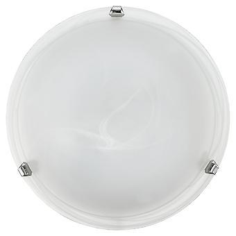 Eglo - leggero rossore tradizionale Salome 2, soffitto luce in vetro alabastro cromo finitura grande EG7184