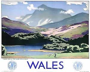 Wales Cader Idris (old GWR ad.) fridge magnet