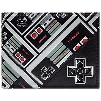 NES Controller Patterned ID & Card Bi-Fold Wallet