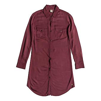 Roxy Womens Tomini Bay View Shirt Dress - Oxblood Red