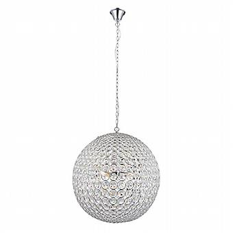Endon 66190 Miley Large Ceiling Pendant Light with Clear Crystal Glass
