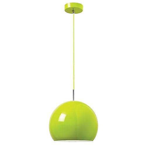 Endon ALZIRA-GR Alzira Modern Green Metal Adjustable Ceiling Pendant With Braided Cable