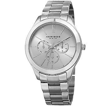 Akribos XXIV AK952SS Military Time Date Complication Bracelet Watch