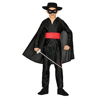 Jongens Bandit gemaskerde held Zorro fancy dress kostuum