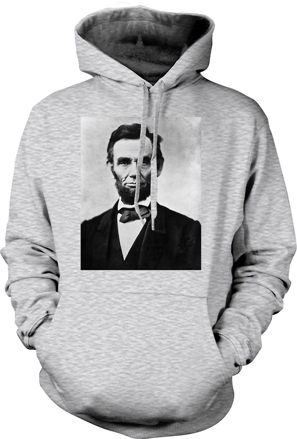 Mens Hoodie - Portrait d'Abraham Lincoln