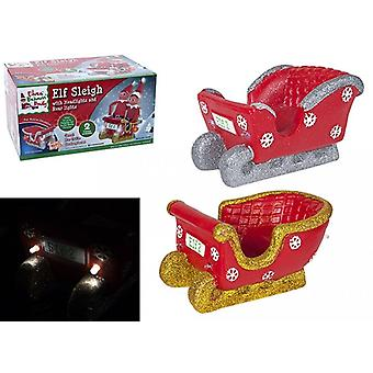 Elves Behavin Badly - Elf Sleigh With Headlights And Rear Lights - One Supplied At Random