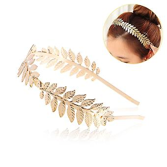 Déesse romaine feuille branche Dainty cheveux Bridal Crown robe Boho bandeau Alice Band - or