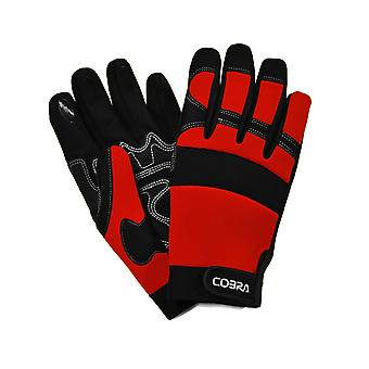 Cobra PVC Reinforced Leather Gardening Gloves with Silicon Fingertips