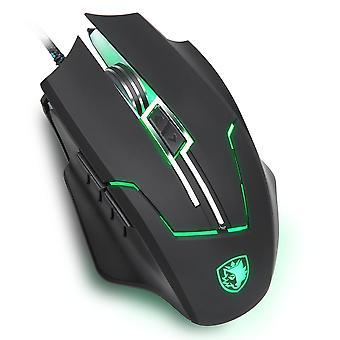 Said Q7 USB Optische Maus mit LED, 7 Tasten