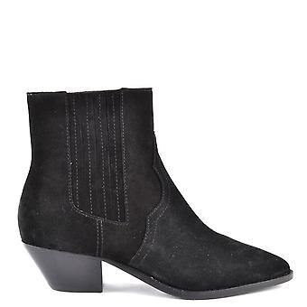 Ash FUTURE Ankle Boots Black Suede