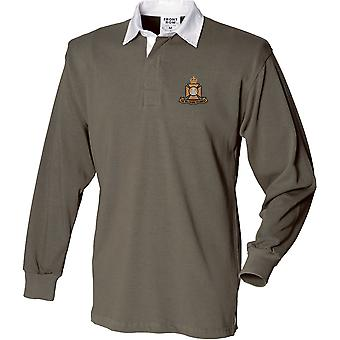 Wiltshire Regiment - Licensed British Army Embroidered Long Sleeve Rugby Shirt