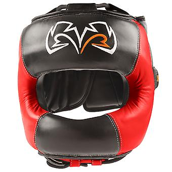 Rival Boxing Face Guard Headgear - Black/Red