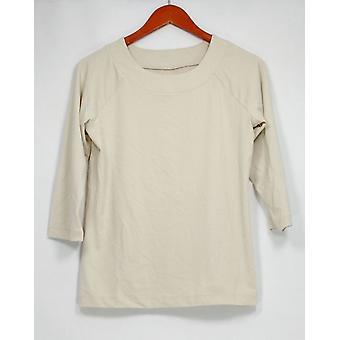 Susan Graver Femmes apos;s Top Essentials Butterknit Bateau Neck Beige A198716