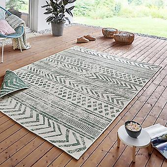 In- and outdoor reversible carpet Biri Green Cream