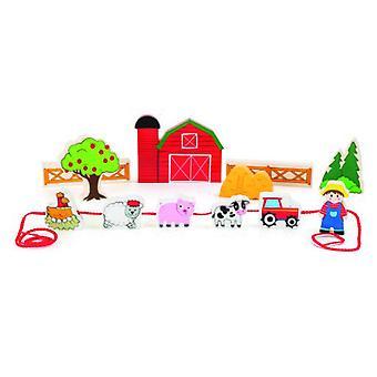 Legler Farm Game World rijgen (baby's en kinderen, speelgoed, educatieve en creatieve)