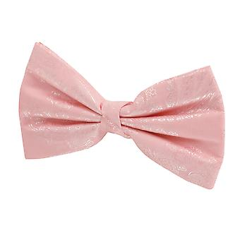 Dobell Mens Pink Paisley Bow Tie Pre-Tied
