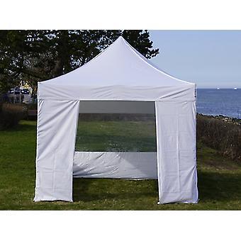 Vouwtent/Easy up tent FleXtents Easy up pavillon Basic v.3, 3x3m Wit, inkl. 4 Zijwanden