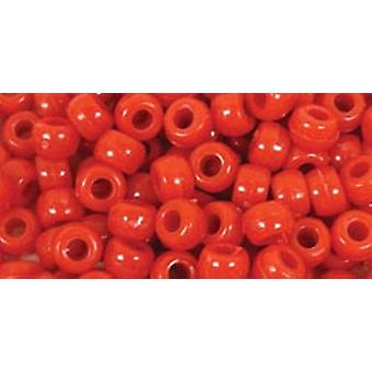 Barrel Pony Beads 9Mmx6mm 175 Pkg Red Bd239 B