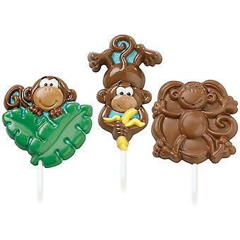 Lollipop Mold Monkey 3 Cavities 3 Designs W2100