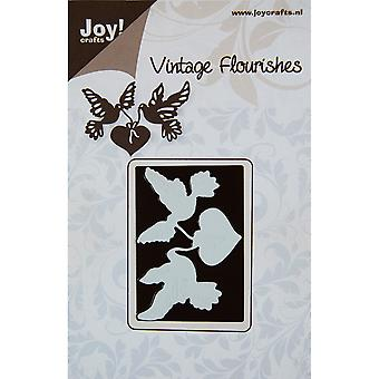 Joy! Craft Dies Vintage Flourishes  Doves & Hearts Jc30016