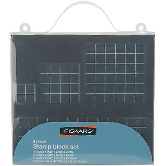 Fiskars Stamp Block Set 4 Pkg 68