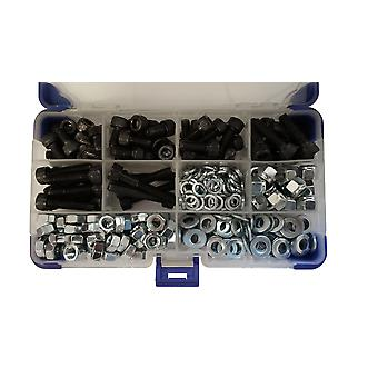 1270Pc zwarte Socket Cap Setscrews met sluitringen en moeren M3 3MM
