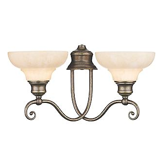 Dar Stratford ST211 Traditional Wall Lights Double