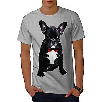 Fancy French Bulldog Men Grey T-shirt | Wellcoda