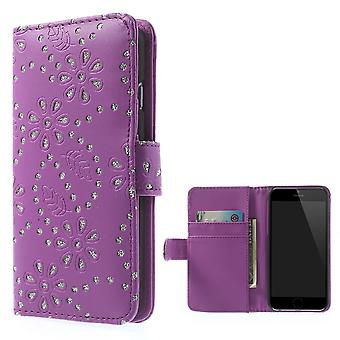 Mobile phone Pocket flip rhinestone for phone Apple iPhone 6 (4.7 inch) purple / violet