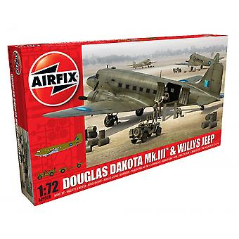 Airfix 1: 72 Douglas Dakota MkIII mit Willys Jeep