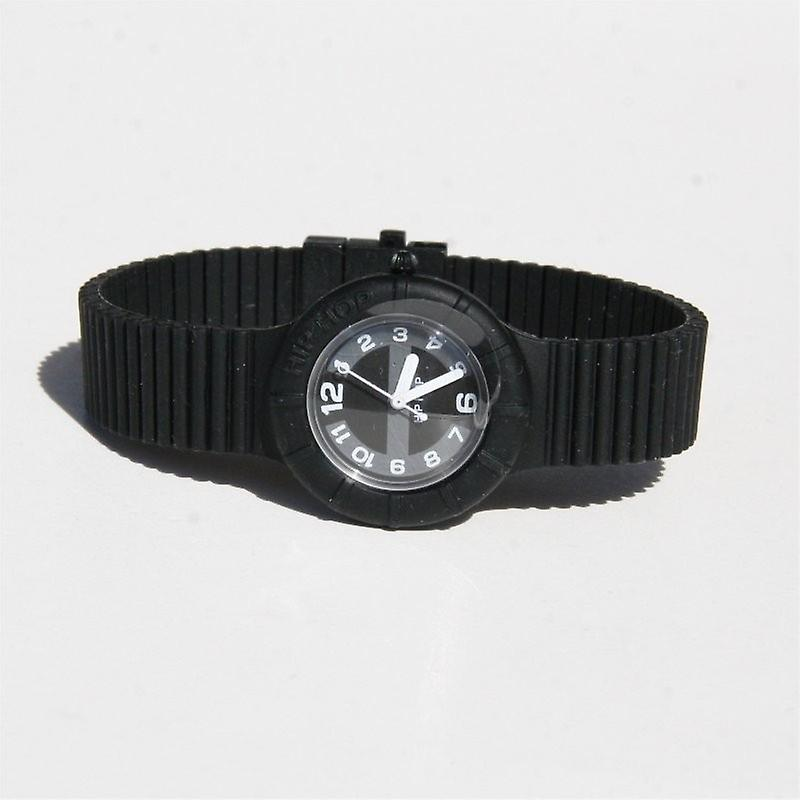 Hip hop watch wrist watch silicone watch of numbers black HWU0128