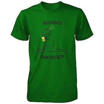 Irische konnte ich dieses Bier lustige Unisex grüne Hemden St Patricks Tag Tee trinken