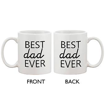 Funny Statement Ceramic Coffee Mug for Dad - Best Dad Ever. Best Father's Day Gift for Father 11oz Mug
