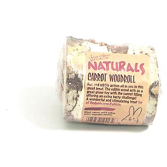 Naturals knabbelen Woodroll-carrot (pakje 10)