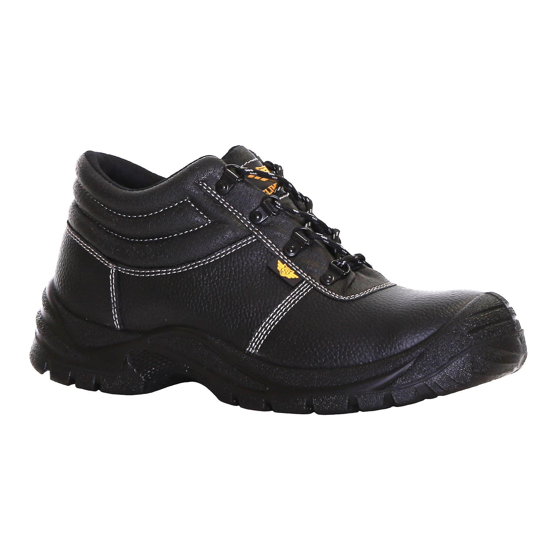 Slimbridge Thum Size 11 Safety Boots, Black