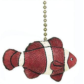 Tropiske revet Orange klovn fisk Nemo loft Fan lys Pull