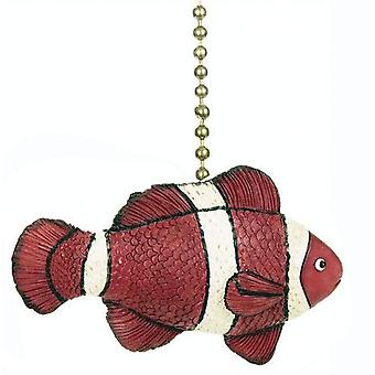Tropical Reef Orange Clown Fish Nemo Ceiling Fan Light Pull
