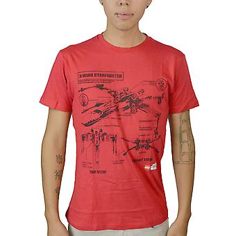 Star Wars X-Wing Starfighter Men's Red T-shirt